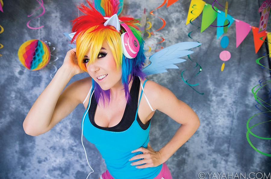 Short Rainbow Wig - Designed By Yaya Han