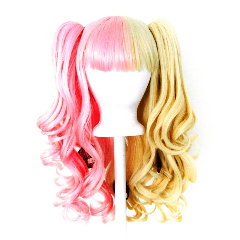 Umeko - Half Flaxen Blond and Half Cotton Candy Pink Split