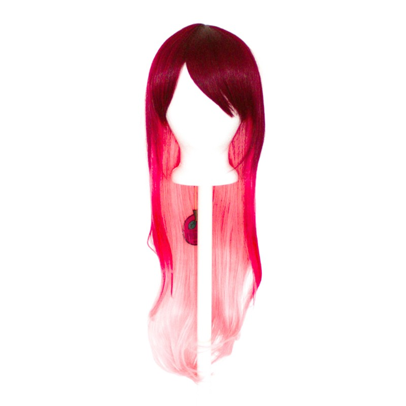 Haku - Burgundy Red Fade to Rose Pink