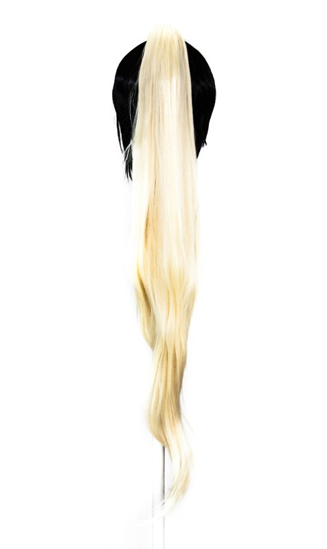 Long Straight Clip - Flaxen Blond