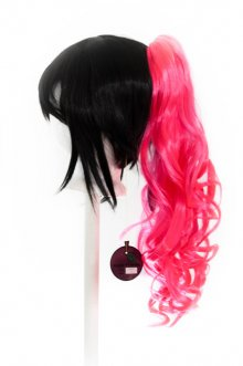 Loose Curly Clip - Hot Pink